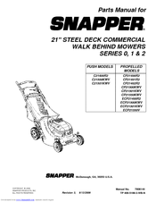 Snapper CP21550KWV Manuals