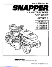 Snapper LT115D411B Manuals