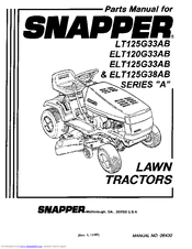 Snapper LT125G33AB Manuals