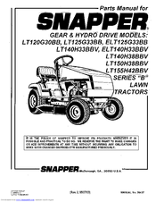 Snapper ELT125G33BB Manuals