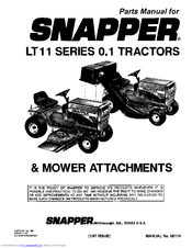 Snapper LT11 SERIES 0.1 Manuals
