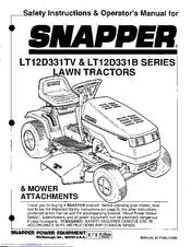 Snapper LT12D331B Manuals