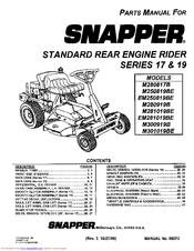 Snapper M280817B Manuals