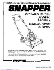 Snapper R20500 Manuals