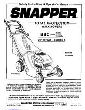 Snapper P21508B Manuals