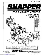 Snapper PMA610 Manuals