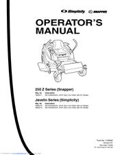 Snapper RZT22500BVE2 Manuals
