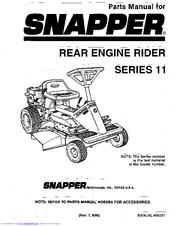 Snapper Series 11 Manuals