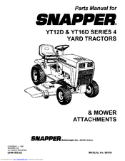 Snapper YT16D Manuals