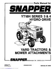 Snapper YT18H Series 3 Manuals