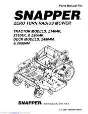 Snapper Z6004M Manuals