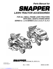 Snapper Lawn Mower Accessory Manuals
