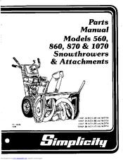 Simplicity 1070 Manuals