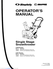 Snapper 5201E Manuals