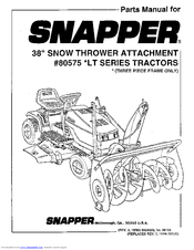 Snapper 80575 User Manual (14 pages)