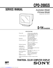 Sony CPD-200GS Manuals