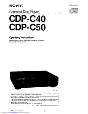 Sony CD-PC50 Manuals