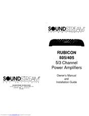 Soundstream 805 Manuals