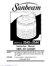 Sunbeam 2543 Manuals