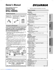 Sylvania DVL1000G Owner's Manual (24 pages)