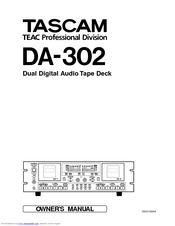 Tascam DA-302 Manuals