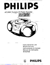 Philips AZ2000/19 Manuals