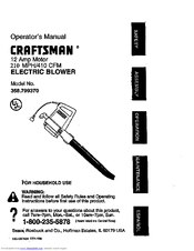 Craftsman 358.799370 Manuals