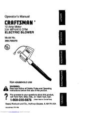 Craftsman 358.799370 Manuals