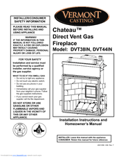 Vermont Castings ChateauTM DVT38IN Manuals