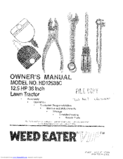 Weed Eater 160637 Manuals