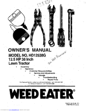 Weed Eater HD12538G Manuals