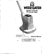 Weed Eater Needie 507 Manuals