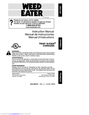 Weed Eater Twist'N Edge Cordless Instruction Manual