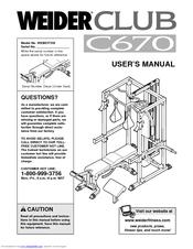 Weider C670 Manuals