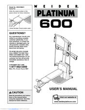 Weider PLATINUM 600 Manuals