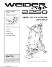 Weider Pro 2250 Manuals
