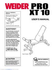 Weider Pro Xt10 Manuals
