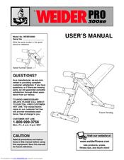 Weider Pro 300se Manuals