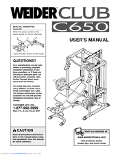 Weider Club C650 Manuals