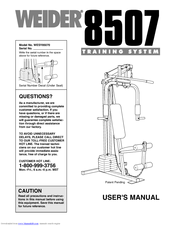 Weider WESY85070 Manuals