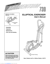 Weslo Momentum 730 Elliptical Manuals