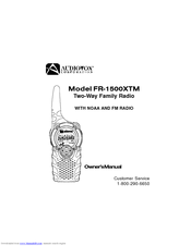 Audiovox FR-1500XTM Manuals
