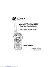Audiovox FR-1500XTM Manuals