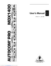 Behringer MDX1400 Manuals