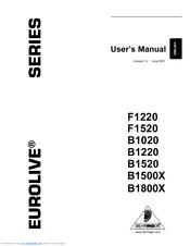 Behringer EUROLIVE PROFESSIONAL B1520 PRO Manuals