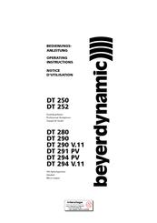 Beyerdynamic DT 290 Manuals