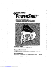 Black & decker PowerShot 348061-00 Manuals