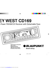 Blaupunkt CD169 Manuals