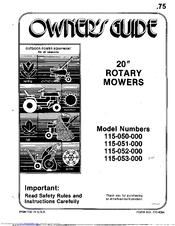 Mtd 115-053-000 Manuals