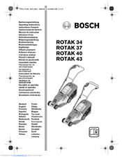 Bosch ROTAK 43 Manuals